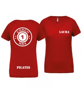 T-shirt woman coach1max red PIL