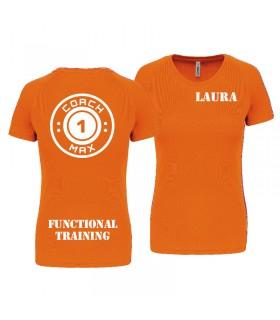 T-shirt col rond femme coach1max orange FT