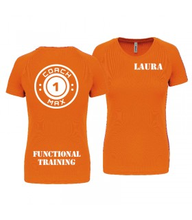 T-shirt dame coach1max orange FT
