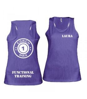 Débardeur sport femme coach1max violet FT
