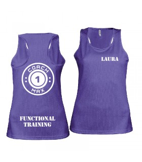 Ladies' sports vest coach1max violet FT