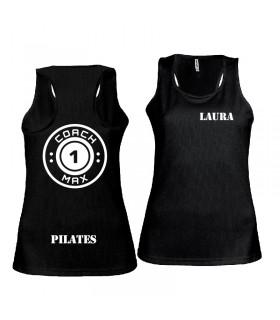 Ladies' sports vest coach1max black Pilates