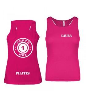 Ladies' sports vest coach1max fushia Pilates