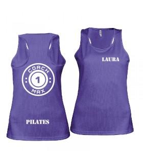 Ladies' sports vest coach1max violet Pilates