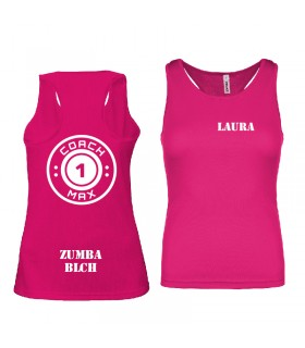 Ladies' sports vest coach1max fushia Zumba