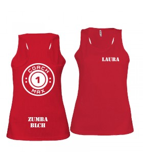 Ladies' sports vest coach1max red Zumba