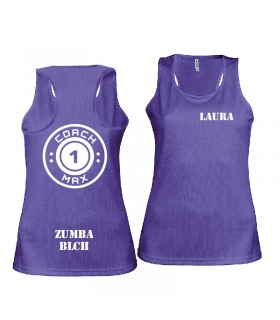 Ladies' sports vest coach1max violet Zumba