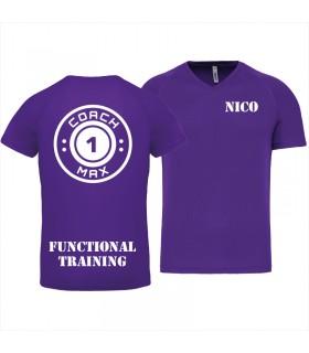 T-shirt col V homme coach1max violet FT