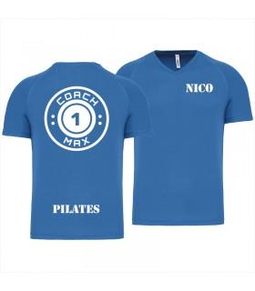 Men's V-neck coach1max aquablue  Pilates