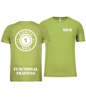 T-shirt man coach1max lime FT