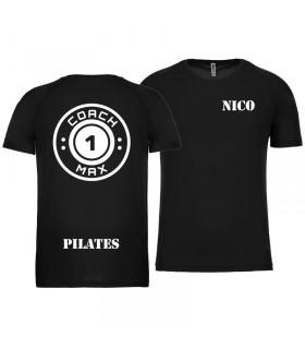 T-shirt col rond homme coach1max noir Pilates