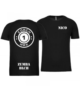 T-shirt col rond homme coach1max noir Zumba