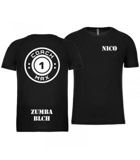T-shirt man coach1max black Zumba