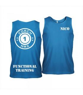 Men's sports vest coach1max aquablue FT