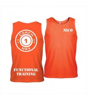 Men's sports vest coach1max orange FT