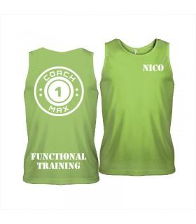 Men's sports vest coach1max Lime FT
