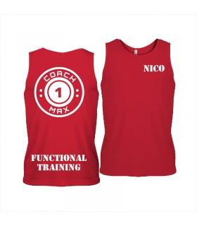 Men's sports vest coach1max red FT