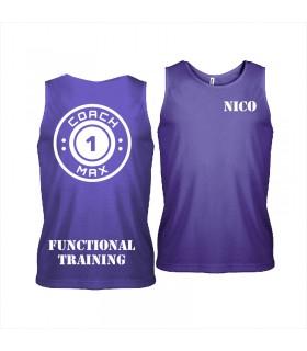 Men's sports vest coach1max violet FT