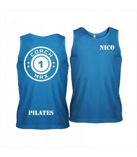 Men's sports vest coach1max aquablue Pilates