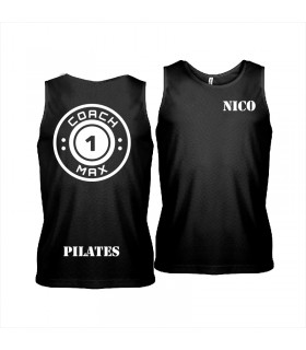 Men's sports vest coach1max black Pilates