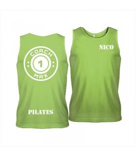 Men's sports vest coach1max lime Pilates