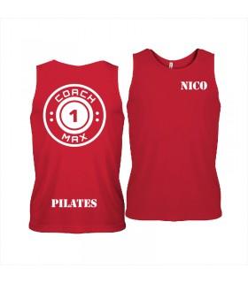 Men's sports vest coach1max red Pilates