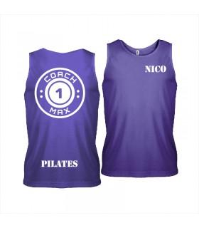 Débardeur sport homme coach1max violet Pilates