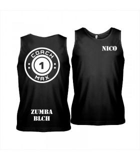 Men's sports vest coach1max black Zumba