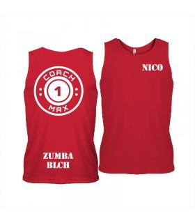 Men's sports vest coach1max red Zumba
