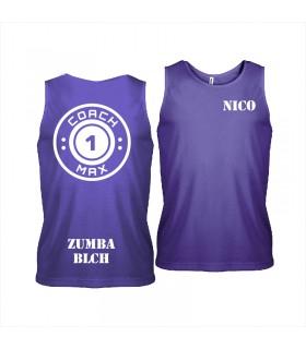 Men's sports vest coach1max violet Zumba