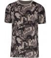 Men's short-sleeved camo t-shirt - grey