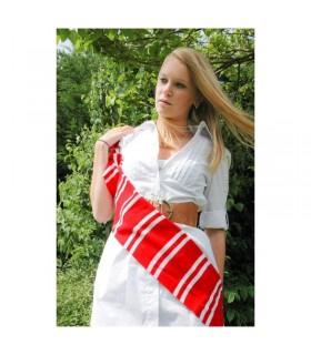 Echarpe Rouge et Blanc Rood Wit Sjaal