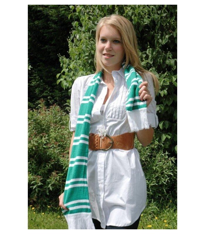 Echarpe Vert et blanc Groen Wit Sjaal