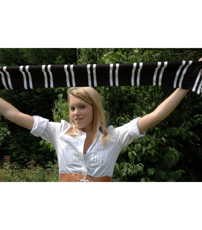 Echarpe noir et Blanc Zwart White Sjaal