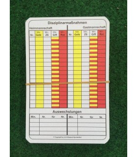 Cards for referee