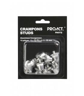 12 studs / noppen in aluminium/nylon