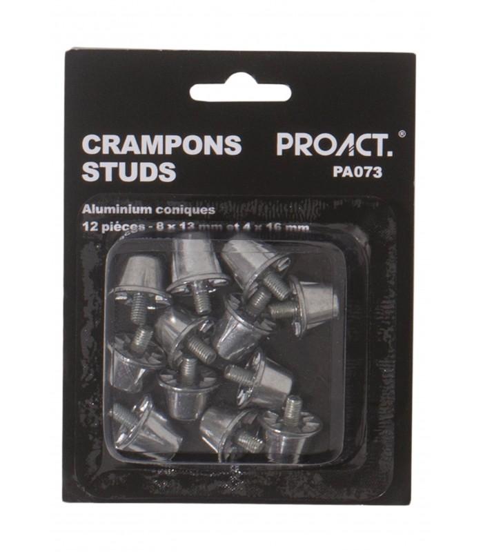 12 conical aluminium / nylon studs