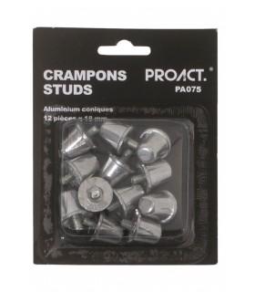 12 kegelvormige aluminium noppen / studs 18mm
