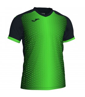 Joma Shirt Supernova Black-FluoGreen